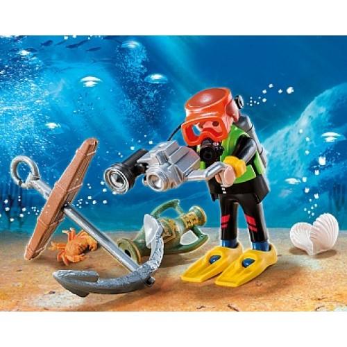 Дополнение: Водолаз в поисках сокровищ Playmobil 4786pm