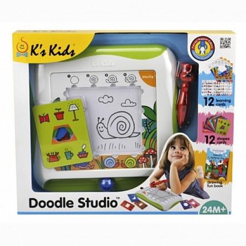 Доска для рисования с обучающими карточками KS Kids