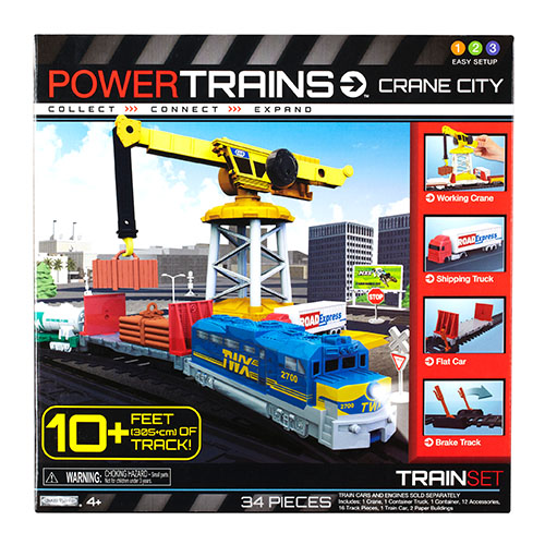 ж/д Powertrains набор с краном Jakks Pacific