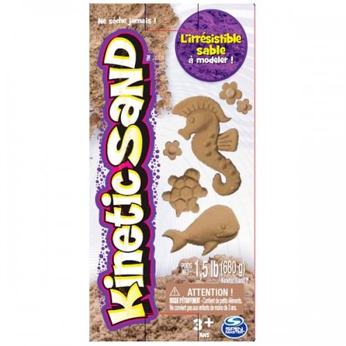 Кинетический песок для лепки 680 грамм, коричневый.