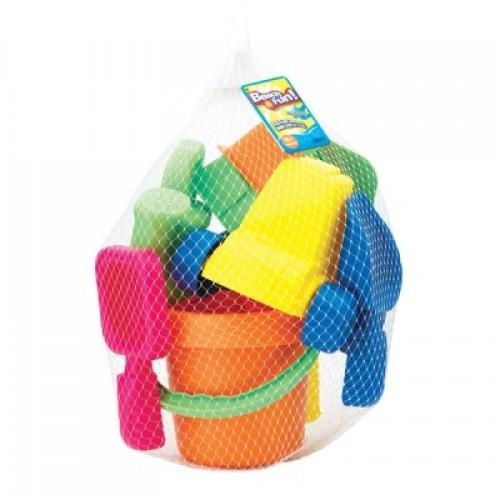 Набор : 15 игрушек для песочницы в сетке Keenway 30311