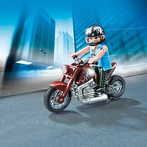 Коллекция мотоциклов: Коричневый мотоцикл Playmobil 5527pm