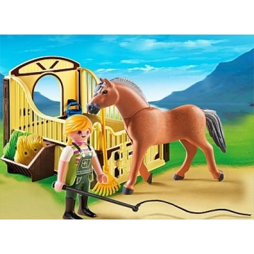 Конный клуб: Рабочая лошадка и загон Playmobil 5517pm