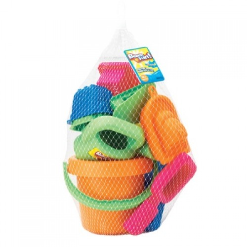 Набор : 16 игрушек для песочницы в сетке Keenway 30312
