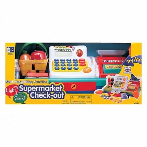 """Набор """"Супермаркет"""":кассов. аппарат, продукты-свет,звук Keenway 30251"""