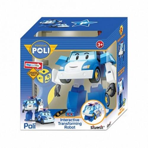 Робот-трансформер Поли на радиоуправлении . Управляется в форме робота и машины Robocar Poli Silverlit 83086