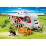 Каникулы: Семейный автоприцеп Playmobil (Плеймобил)
