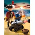 Пираты: Английский солдат с пушкой Playmobil (Плеймобил)
