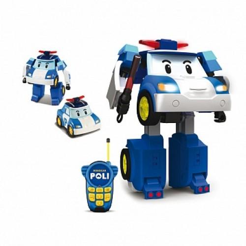 Робот-трансформер Поли на радиоуправлении (31 см). Управляется в форме машины Robocar Poli Silverlit 83185