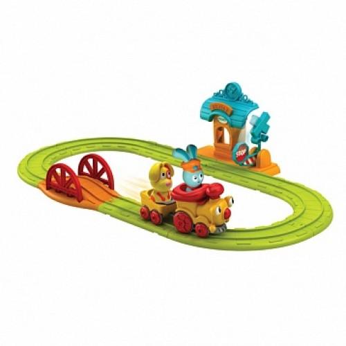Бани - железная дорога, игровой набор (дорога+станция+поезд+бани и 3 друзей) Ouaps