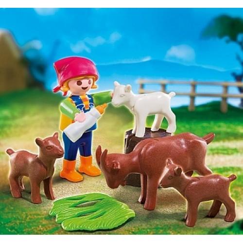 Дополнение: Девочка с козлятами Playmobil 4785pm