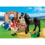 Конный клуб: Черная лошадка и загон Playmobil (Плеймобил)