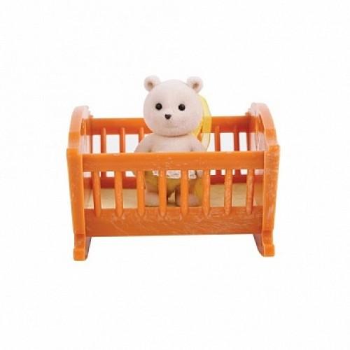 Малыш медвежонок с кроваткой Village Story
