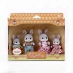Семья серых кроликов Village Story