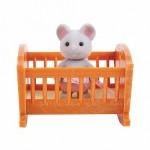 Малыш мышонок с кроваткой Village Story