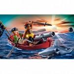 Пираты: Пиратская лодка и акула Playmobil (Плеймобил)