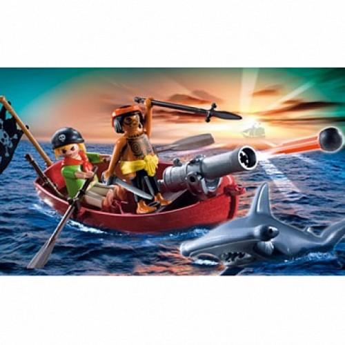 Пираты: Пиратская лодка и акула Playmobil 5137pm