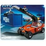 Порт: Грузовой подъемник с контейнером Playmobil (Плеймобил)