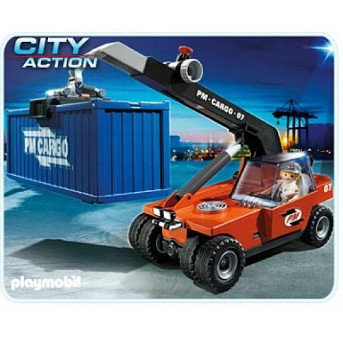 Порт: Грузовой подъемник с контейнером Playmobil 5256pm