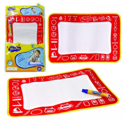 AquaArt коврик для рисования водным маркером моноцветный красный 1TOY
