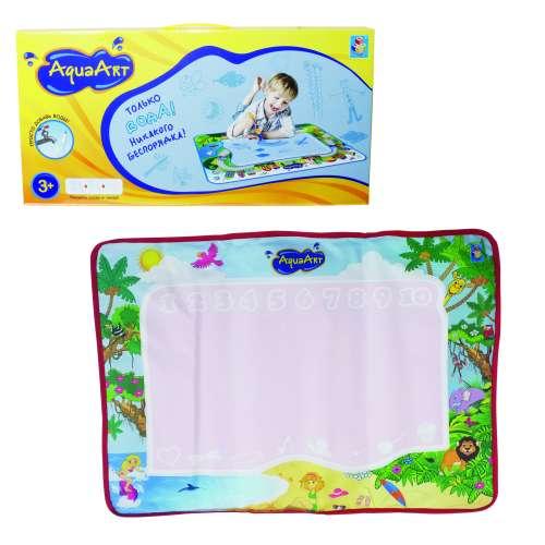 AquaArt коврик для рисования водным маркером моноцветный розовый 1TOY