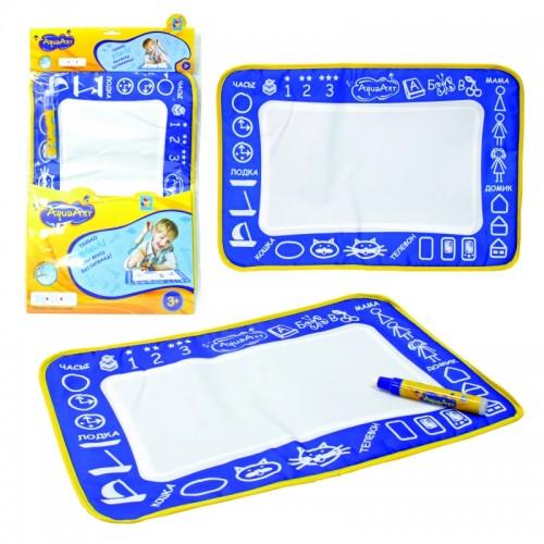 AquaArt коврик для рисования водным маркером моноцветный синий 1TOY