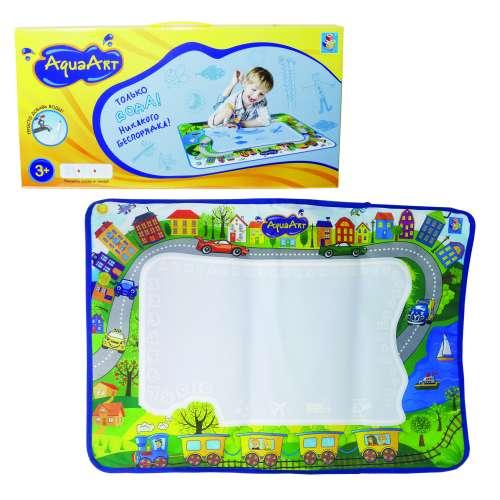 AquaArt коврик для рисования водным маркером моноцветный зеленый 1TOY