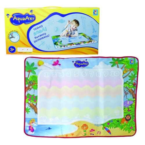 AquaArt коврик для рисования водным маркером разноцветный розовый 1TOY
