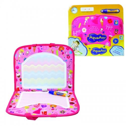 AquaArt коврик для рисования водным маркером розовый 1TOY