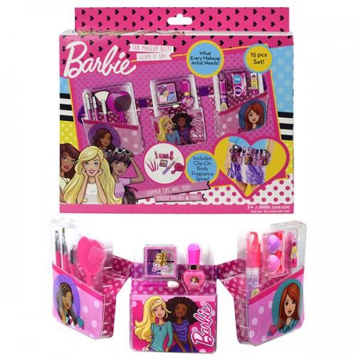 Barbie Игровой набор детской декоративной косметики с поясом визажиста Markwins