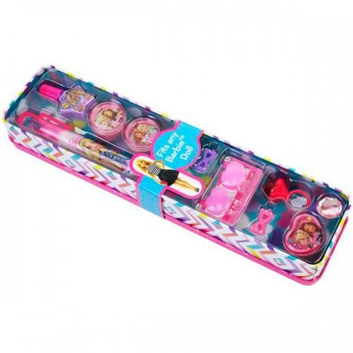 Barbie Игровой набор детской декоративной косметики в пенале откр. Markwins
