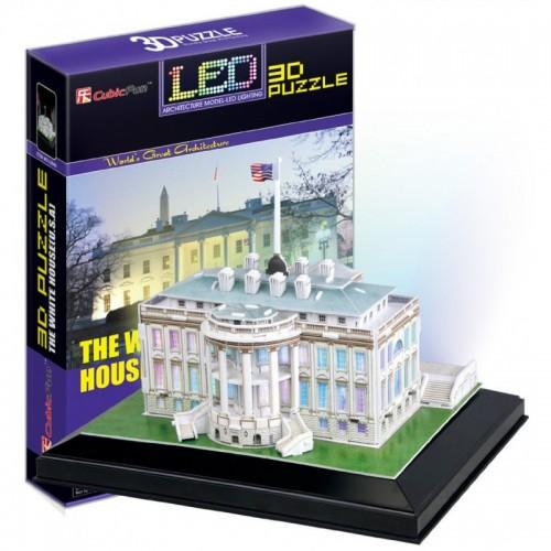 3D пазл Белый дом с иллюминацией (США) CubicFun