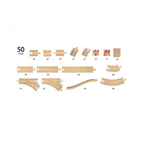 Большой набор деталей для построения ж/д, 50 дет. BRIO
