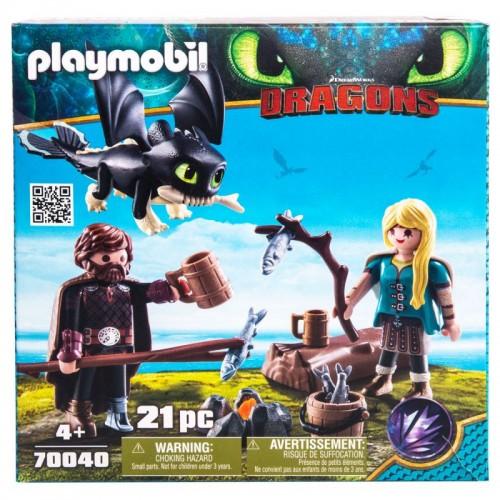 Драконы III:Игровой набор: Иккинг и Астрид Playmobil (Плеймобил)