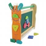 Двусторонняя доска для рисования с набором фигурок на липучках I`m Toy