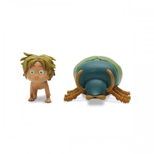 Фигурка Good Dinosaur подвижная малая, Дружок и жук Tomy