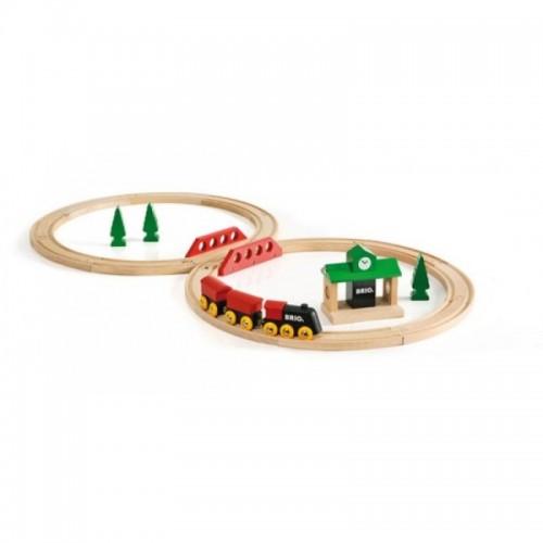 Железная дорога для малышей с вокзалом 22 элемента Brio