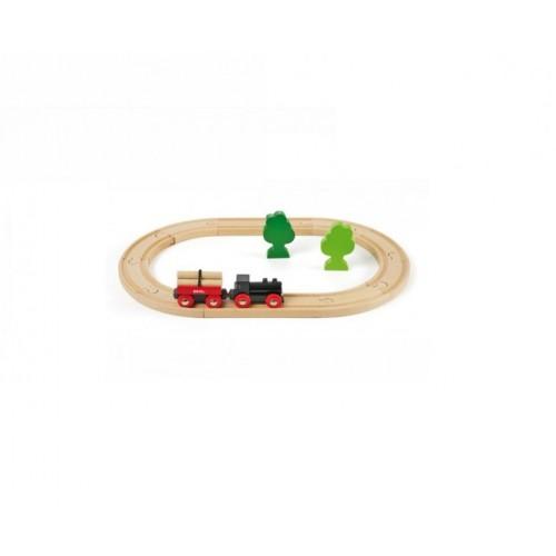 Железная дорога с грузовым поездом, 18 элементов Brio