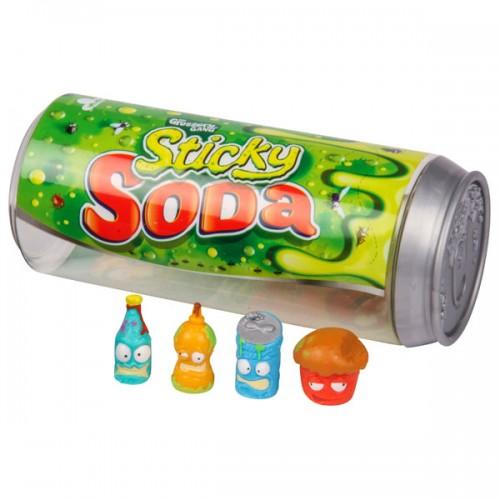 Grossery Gang 4 фигурки, упаковка в виде банки содовой