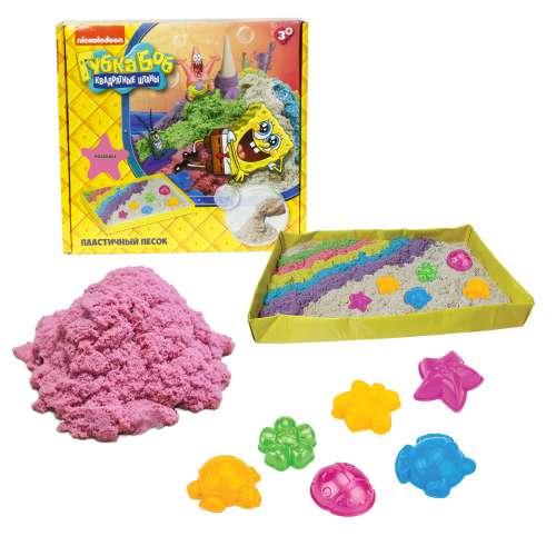 Губка Боб космический песок розовый 1 кг