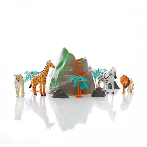 Игровой набор диких зверей в тубе HGL