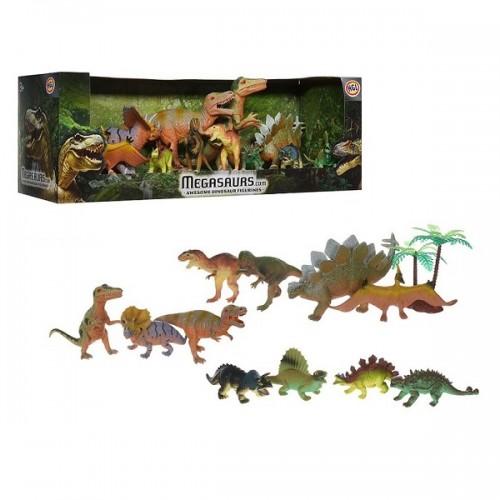 Игровой набор динозавров (11 дино+дерево) HGL