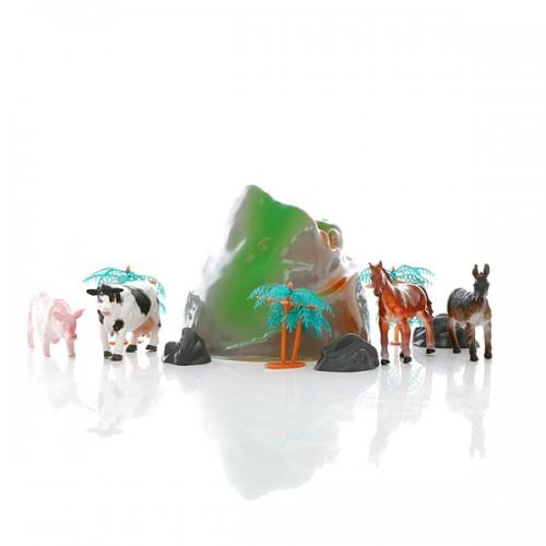 Игровой набор фермерских животных в тубе HGL
