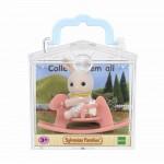 Игрушка младенец в пл.. коробке(медвеж.на велосипеде, собач. на качелях-лошадке, крольч. на качалке) Sylvanian families
