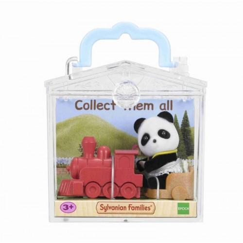 Игрушка младенец в пласт. коробке(медвеж. с сумочкой, котёнок за партой, панда на каталке-паровоз.) Sylvanian families