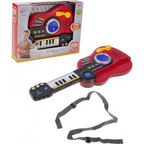 Игрушка музыкальная 3в1 гитра, пианино, барабан