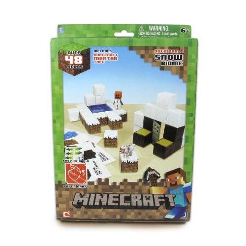 """Конструктор из бумаги """"Снежный биом"""",48 дет. Майнкрафт (Minecraft)"""