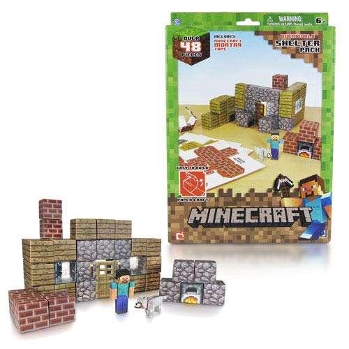 """Конструктор из бумаги """"Убежище"""",48 дет. Майнкрафт (Minecraft)"""