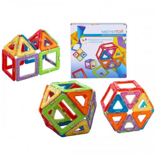 Конструктор магнитный 6 квадратов, 8 треугольников Магнитой