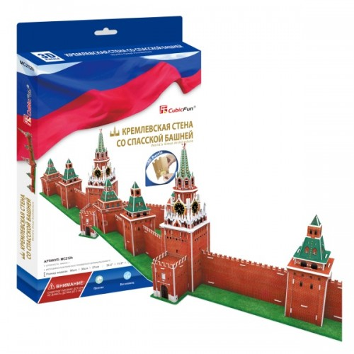 3D пазл Кремлевская стена со Спасской башней (Россия) CubicFun